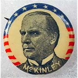C. 1900 WILLIAM MCKINLEY CELLULOID SWEET CAPORAL P