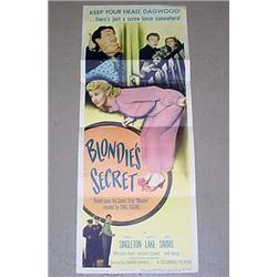 "1948 ""BLONDIE'S SECRET"" INSERT MOVIE POSTER - DAGW"