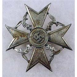 SPANISH CIVIL WAR GERMAN SPANISH CROSS - Given to