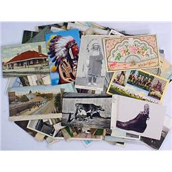 LOT OF APPROX. 100 VINTAGE POSTCARDS - Incl. Train
