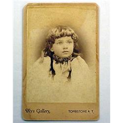 ANTIQUE CABINET CARD PHOTO OF OLD WEST FLY'S GALLE
