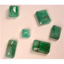 LOT OF 6 OVAL CUT EMERALDS - LOOSE STONES - Comes