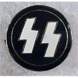 WW2 GERMAN NAZI SS ENAMELED PIN - Marked on back R