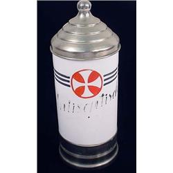 IMPERIAL GERMAN MEDICAL CONTAINER - WHITE GLASS -