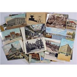 LOT OF APPROX. 100 VINTAGE POSTCARDS - Incl. Black