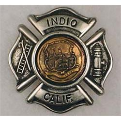 INDIO CALIFORNIA FIREMANS BADGE