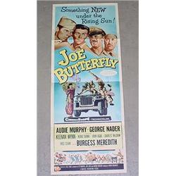 "1957 ""JOE BUTTERFLY"" INSERT MOVIE POSTER - AUDIE M"