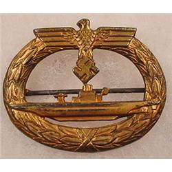WW2 GERMAN NAZI NAVAL U-BOAT SUBMARINE BADGE - Mak