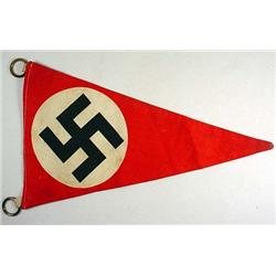 WW2 GERMAN NAZI NSDAP POLITICAL TRIANGULAR PENNANT