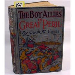 "1916 ""THE BOY ALLIES IN GREAT PERIL"" HARDCOVER BOO"