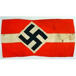 WW2 GERMAN NAZI HITLER YOUTH ARM BAND - Bevo Const