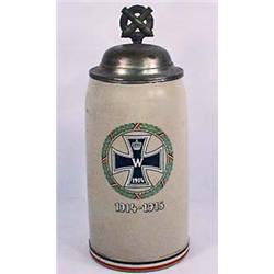1914-1915 1 LITER STONE WARE IMPERIAL GERMAN STEIN