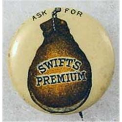 C. 1890'S SWIFT'S PREMIUM HAM ADVERTISING CELLULOI