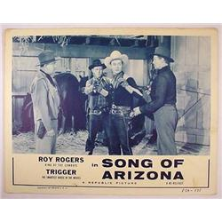 "1954 ""SONG OF ARIZONA"" LOBBY CARD - ROY ROGERS - A"