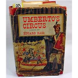 "1951 ""UMBERTO'S CIRCUS"" HARDCOVER BOOK W/ DUST JAC"