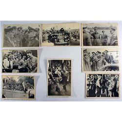LOT OF 8 WW2 GERMAN NAZI ADOLPH HITLER PHOTOS FROM