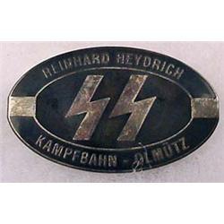 WW2 GERMAN NAZI SS REINHARD HEYDRICH ENAMELED BADG