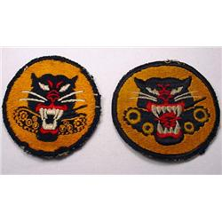 LOT OF 2 WW2 US ARMY TANK DESTROYER SHOULDER PATCH