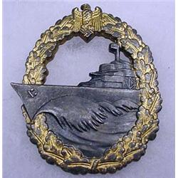 WW2 GERMAN NAZI NAVAL DESTROYER BADGE - Maker Mark