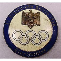 1936 WW2 GERMAN NAZI BERLIN OLYMPICS STARTER BADGE