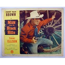 "1952 ""MAN FROM THE BLACK HILLS"" LOBBY CARD - JOHNN"