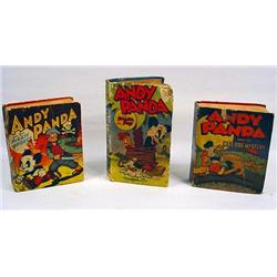 LOT OF 3 VINTAGE ANDY PANDA BETTER LITTLE BOOKS -