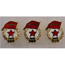 LOT OF 3 SOVIET RUSSIAN CCCP COLD WAR ENAMELED BAD