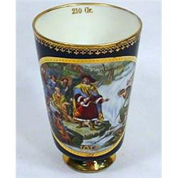 1914 KAISER KARL IV HAND PAINTED CUP - Has age cra