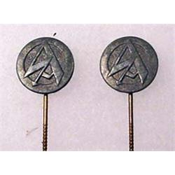 LOT OF 2 WW2 GERMAN NAZI NSDAP SA PARTY STICK PINS