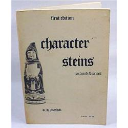 1972 1ST ED. CHARACTER STEINS - SOFT COVER BOOK