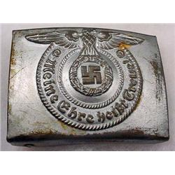 WW2 GERMAN NAZI WAFFEN SS EM BELT BUCKLE - For an