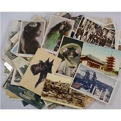 LOT OF APPROX. 100 VINTAGE POSTCARDS - Incl. RPPC