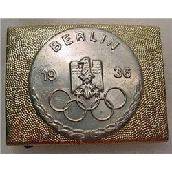 1036 WW2 GERMAN NAZI BERLIN OLYMPICS BELT BUCKLE -