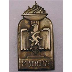 WW2 GERMAN NAZI WAFFEN SS SCHUTZE TINNIE BADGE