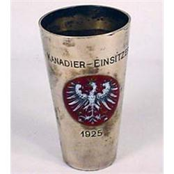 "1925 KANADIER-EINSITZERE TOASTING CUP - 3.75"" TALL"