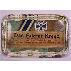 WW1 GERMAN IRON CROSS PAPER WEIGHT