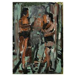 Roger Herman - Untitled (Two Figures Standing)