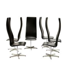 "Arne Jacobsen - Group of 8 ""Oxford"" chairs"
