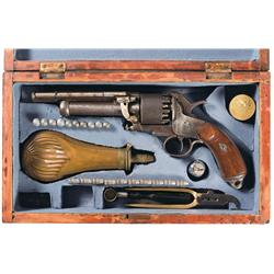 Scarce Confederate LeMat Grapeshot Revolver with Case and Accessories