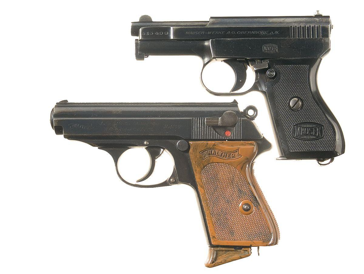 Two German Semi-Automatic Pistols -A) Mauser Model 1910