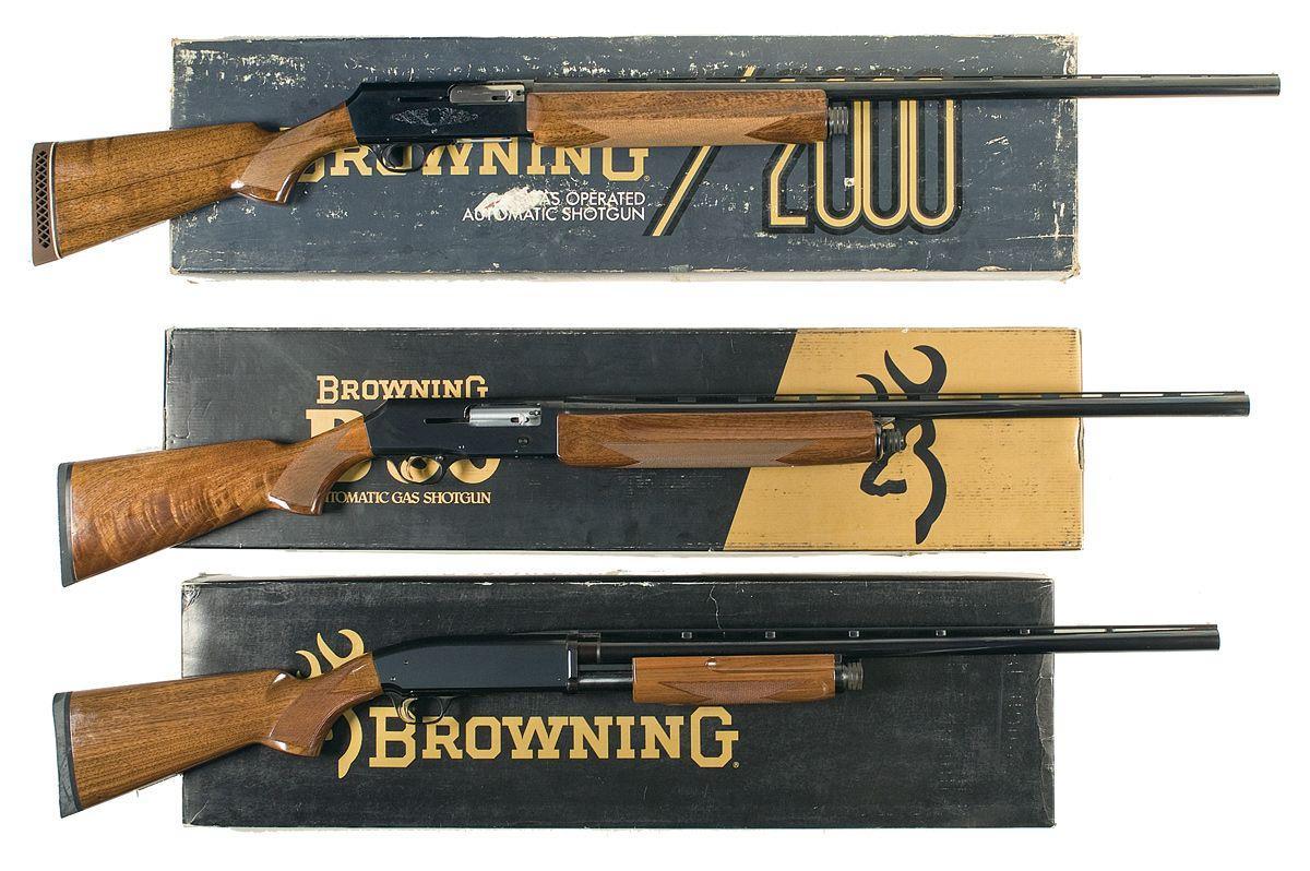 Three Boxed Browning Shotguns -A) Browning Model 2000 Semi-Automatic  Shotgun with Factory Box B) Br