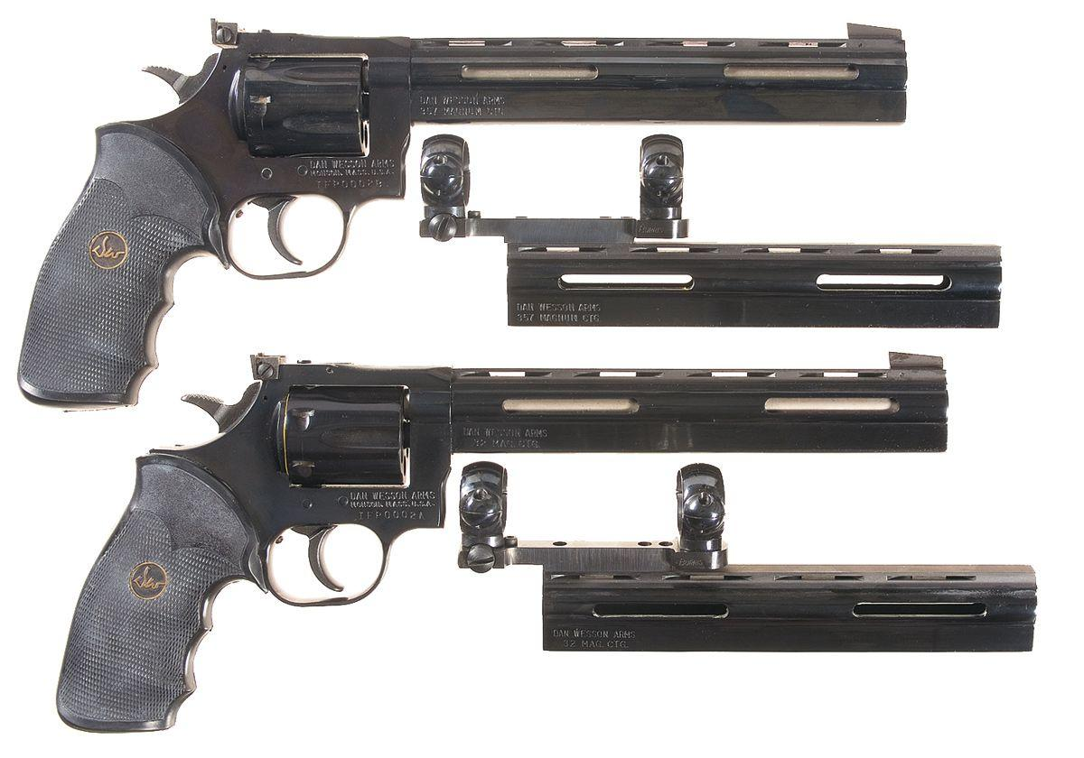 Two Dan Wesson Revolvers -A) Dan Wesson Model 15-2VH Double Action Revolver  with Extra Barrel Shroud