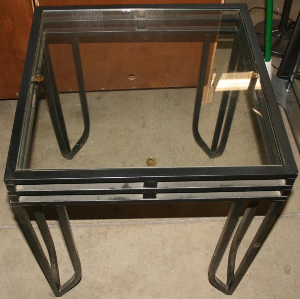 Three Glass Top End Tables A Coffee Table