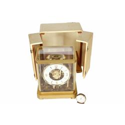 Jaeger le Coultre Swiss Atmosphere Clock that runs off weather and never needs winding.  Encased in