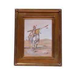 Original Watercolor on Paper by noted artist O.C. Seltzer. Signed lower right hand corner. Image siz