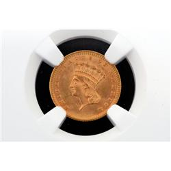 1888 TPIII Gold $1 MS-66 NGC, Very RARE!