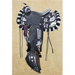 Ted Flowers Style Parade Saddle Beautiful hand-crafted western-style parade saddle by Emdee of Misso