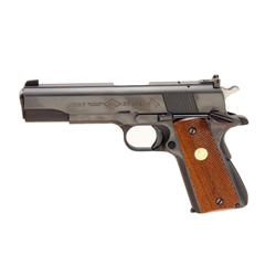 Colt Service Mdl ACE Cal .22 SN:SM43521 Shows blued finish, medallion checkered wood grips, excellen
