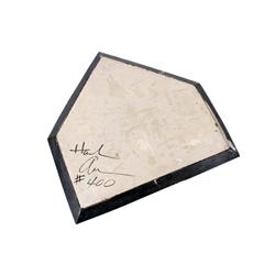 Hank Aaron's #400 Home Run Home Plate Aaron hit his 400th home run on April 20, 1966 off Bob Priddy