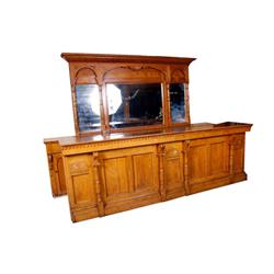 "Large American Oak Western Saloon Bar Originally from the ""Mondesir Saloon"" in Oregon, complete with"